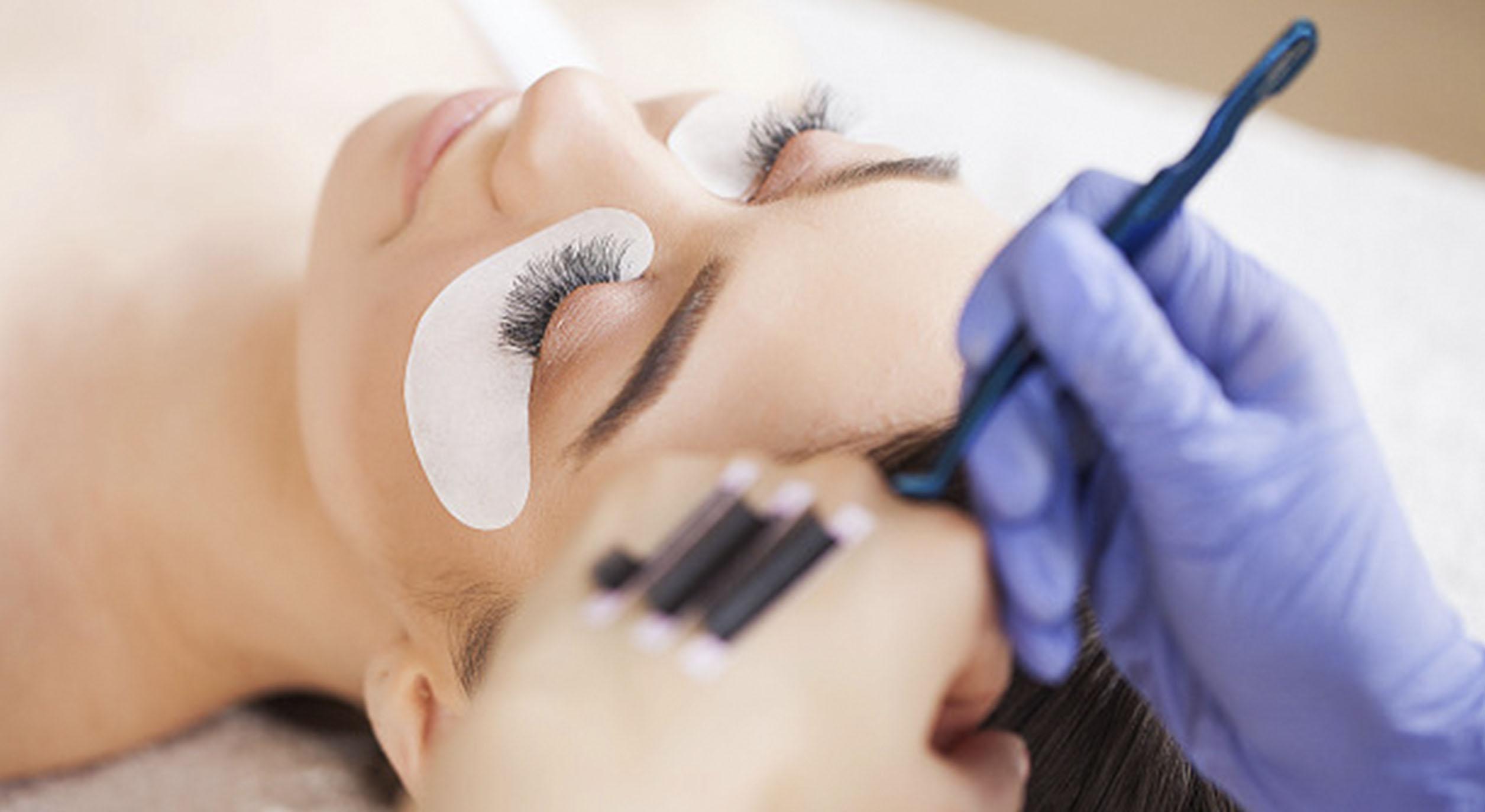 Eye lash extension process